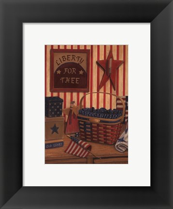 Framed Liberty For Thee Print