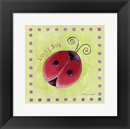 Framed Lucky Bug Print