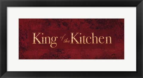 Framed King of the Kitchen Print