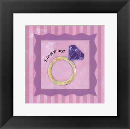 Framed Bling! Bling! - Square Print