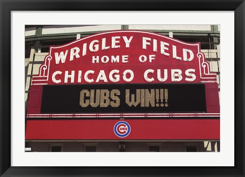 Framed Cubs- Win Print