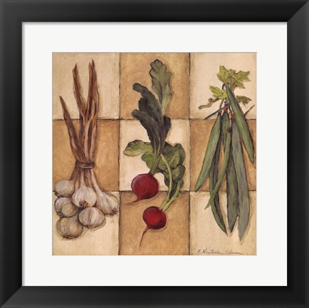 Framed Fresh Veggies II Print