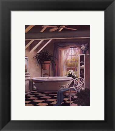 Framed Bathroom IV Print