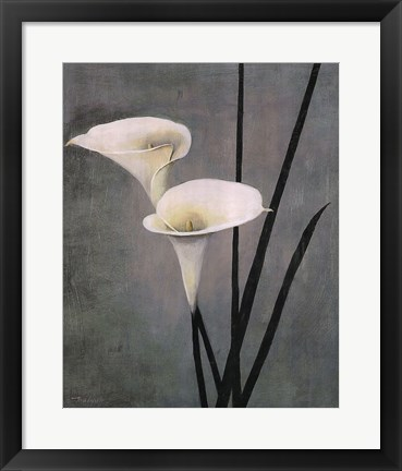 Framed Call Lily on Grey Print