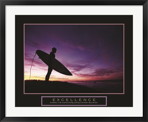 Framed Excellence - Male Surfer Print