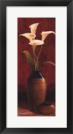 Framed Calla Lily Panel Print