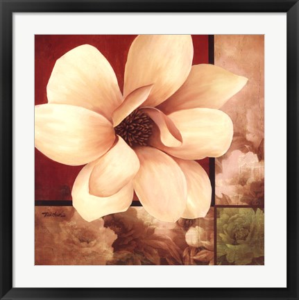 Framed Magnolia Collage Print