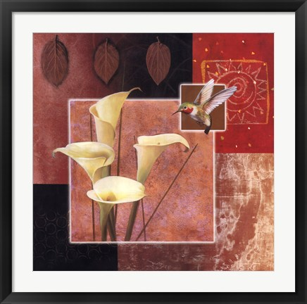 Framed Calla Lily/Butterfly Print