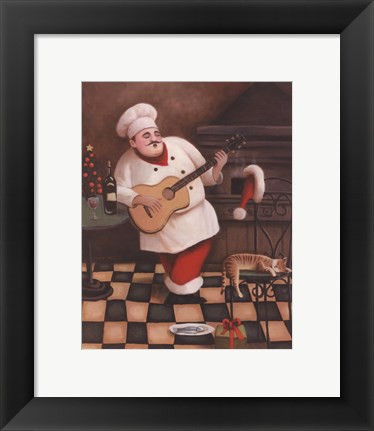 Framed Christmas Chef I Print