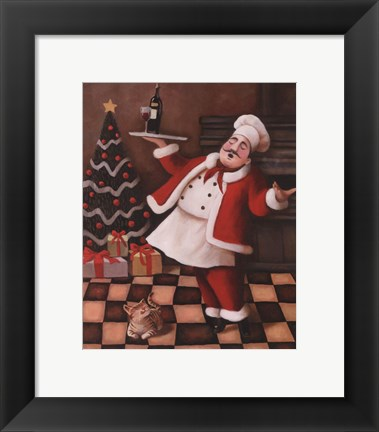 Framed Christmas Chef II Print