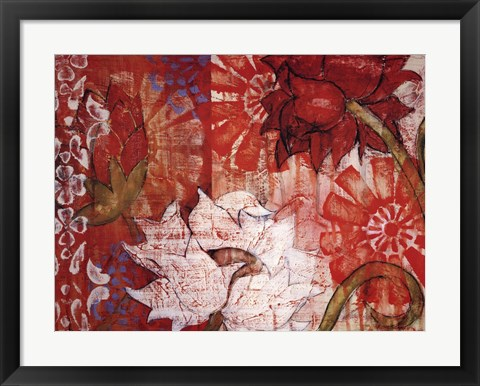 Framed Crimson Malay II Print
