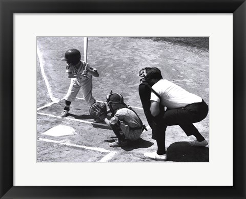 Framed Play Ball Print
