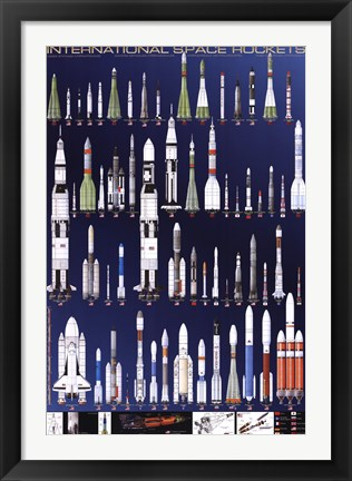 Framed International Space Rockets Print