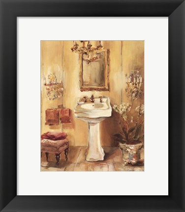 Framed French Bath III Print
