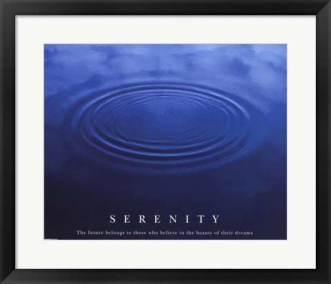 Framed Serenity - water Print