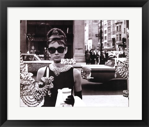 Framed Audrey Hepburn - Window Print