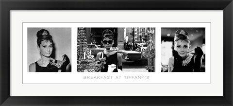 Framed Audrey Hepburn - Breakfast at Tiffany's Print