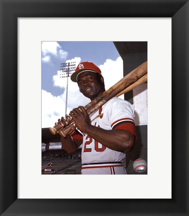 Framed Lou Brock Print