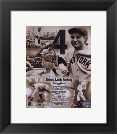 Framed Lou Gehrig - Legends of the Game Composite Print