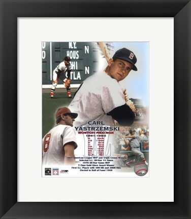 Framed Carl Yastremski - Legends of the Game Composite Print