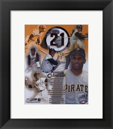 Framed Roberto Clemente - Legends of the Game Composite Print
