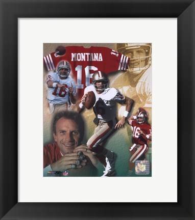 Framed Joe Montana - Legends of the Game Composite Print