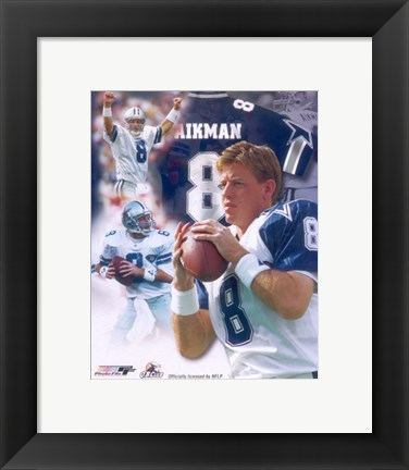Framed Troy Aikman Legends Composite Print