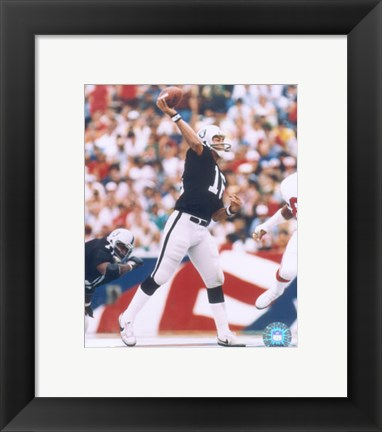Framed Jim Plunkett Print