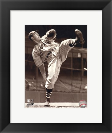 Framed Bob Feller Print