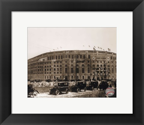 Framed Yankee Stadium  (outside) Print