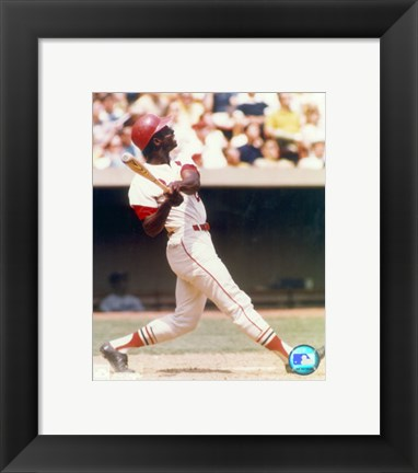 Framed Lou Brock - Batting Print