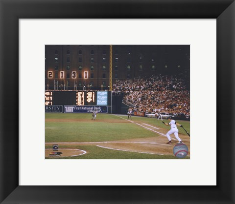 Framed Cal Ripken Jr. 2131 Game #6 Print