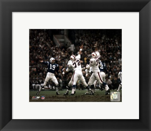 Framed Johnny Unitas Print
