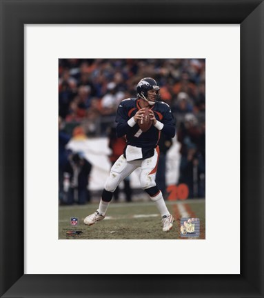 Framed John Elway - New Uniform Print