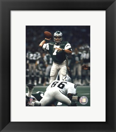 Framed Ron Jaworski - Prepare to pass Print