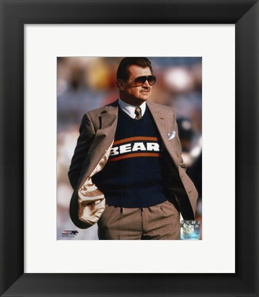 Framed Mike Ditka - Coach Print