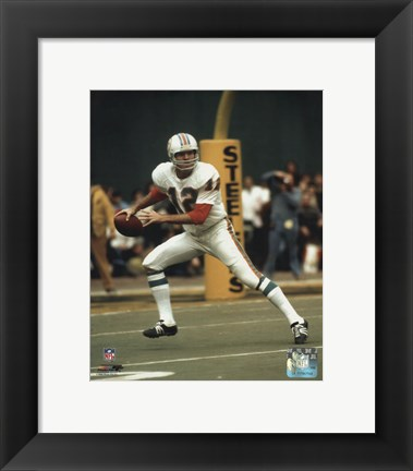 Framed Bob Griese - Prepare to pass Print