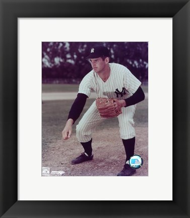Framed Don Larsen - Pitching Print