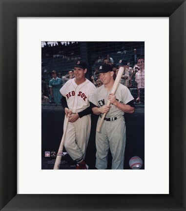 Framed Ted Williams / Mickey Mantle Print