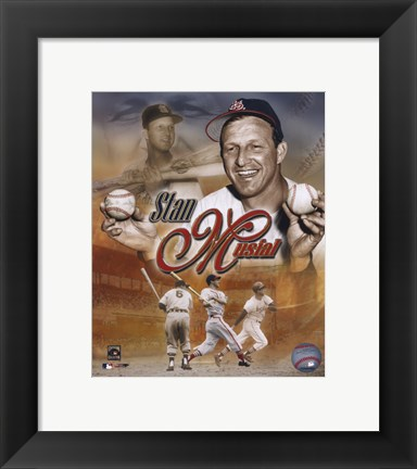Framed Stan Musial - Legends Composite Print