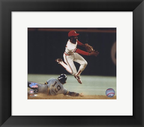 Ozzie Smith Turning Double Play Poster By Unknown At