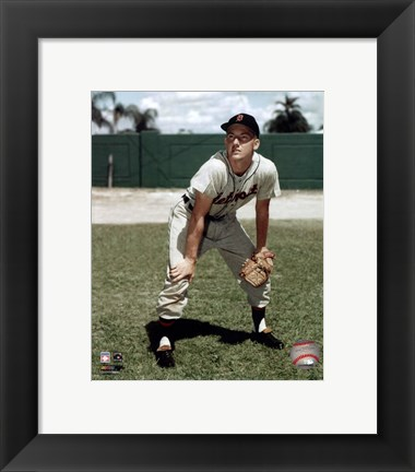 Framed Al Kaline - Hands on knees Print