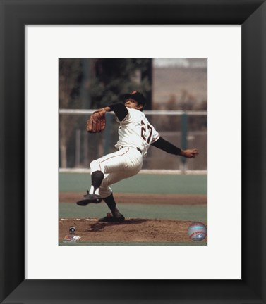 Framed Juan Marichal - Ready to pitch Print