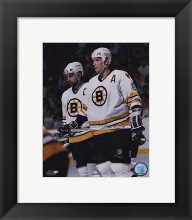 Framed Cam Neely / Ray Bourque Print