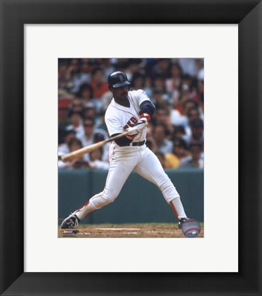 Framed Jim Rice - Batting Print