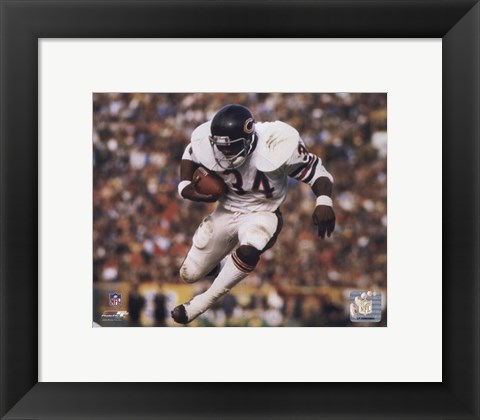Framed Walter Payton - Airbound Print