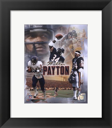 "Framed Walter Payton ""Legends"" Composite Print"