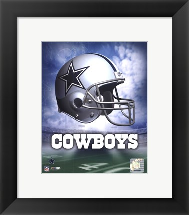 Framed Dallas Cowboys Helmet Logo Print