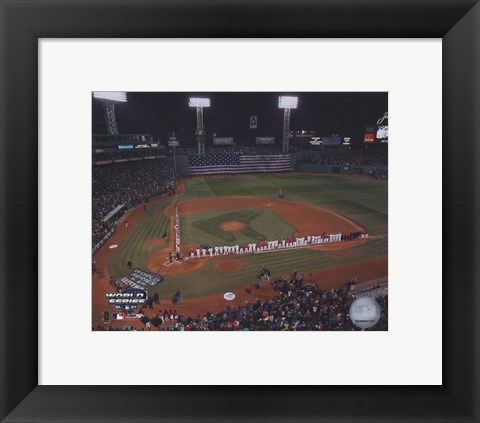 Framed 2004 World Series Opening Game National Anthem at Fenway Park, Boston Print