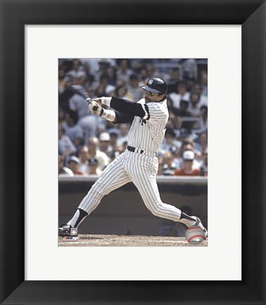 Framed Reggie Jackson - Batting Action Print